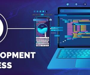 app development, mobile app, and programming languages image