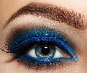 blue, beautiful, and makeup image