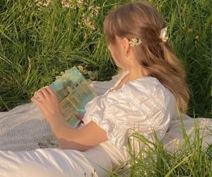 aesthetic, book, and outdoors image