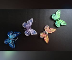 butterfly, colorful, and handmade image