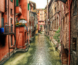 italy, bologna, and water image