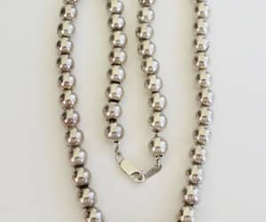 etsy, vintage necklace, and sterling beads image