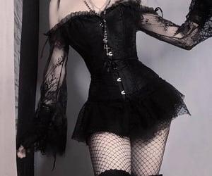 accessories, dark, and dress image