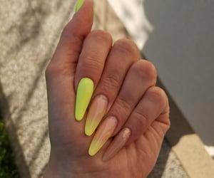 long nails, neon, and summer image