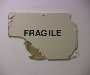 broken, text, and fragile image