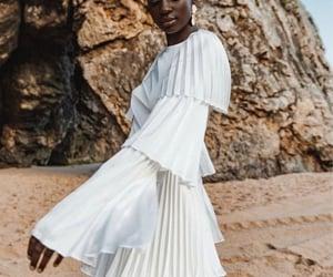 dress, elegant, and pleated image