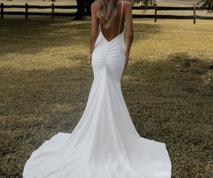bride, dress, and marie image