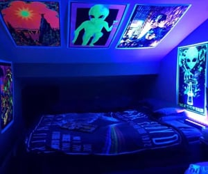 alien, bed, and bedroom image
