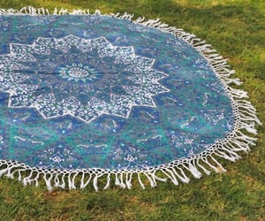 beach blanket, floral tapestry, and mandala tapestry image