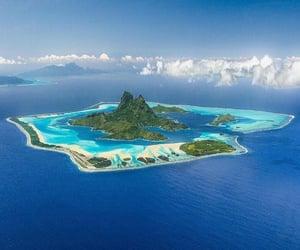 bora bora, Island, and nature image