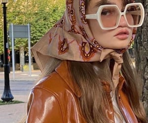 aesthetic, headscarf, and fashion style mode image