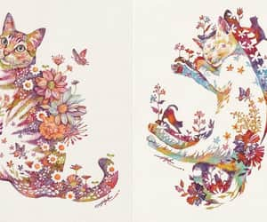 arte, flores, and ilustraciones image