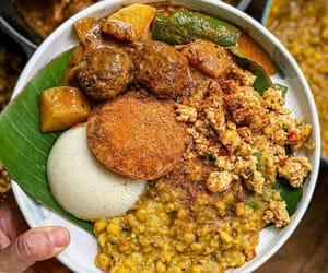 indian food, scrambled egg, and asian food image
