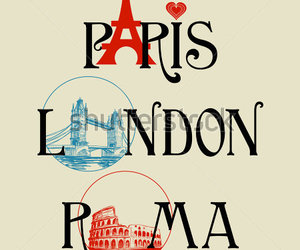 london, paris, and roma image