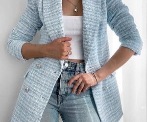 basic, blazer, and chic image