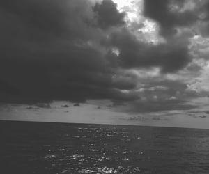 black, sad, and sea image