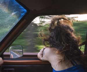 car, driving, and wind image