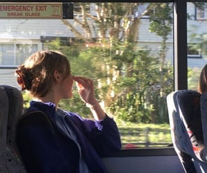 bus, driving, and girl image