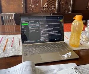 homework, laptop, and motivation image