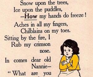 poem, vintage, and winter image