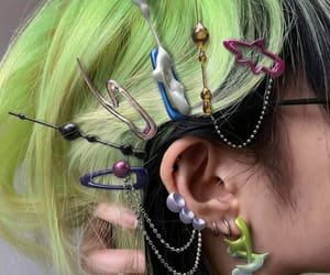 green, hair, and archive image
