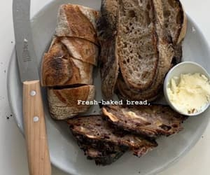 baked, bread, and butter image