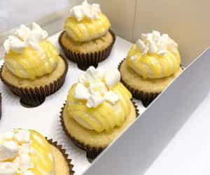 lemon meringue, meringue, and sweet treats image
