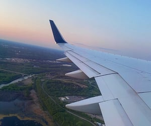 Flying, sky, and travel image
