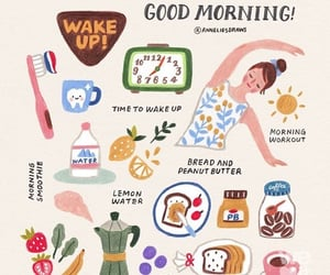 article, morning routine, and college image