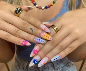 acrylic, acrylics, and gel nails image