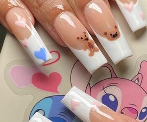 designer, long nails, and nails image