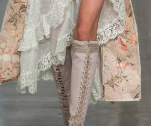 fashion, boots, and lace image