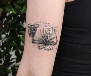 belleza, books, and tattoo image