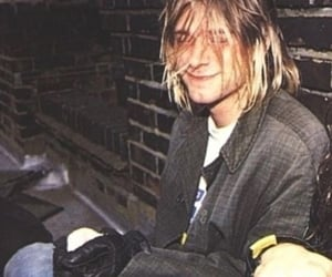 kurt cobain, smile, and nirvana image