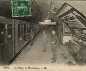 metro, postcard, and sepia image