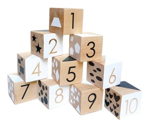 blocks, counting, and childhood image