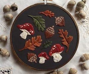 autumn, cross stitch, and fall image