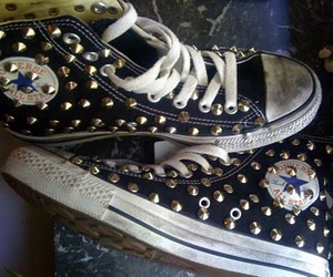 all star, converse, and studded image