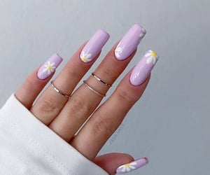 create, lilacs, and acrylic nails image