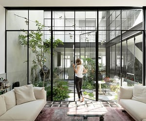 architecture, contemporary, and courtyard image