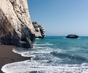 beach, cyprus, and Hot image