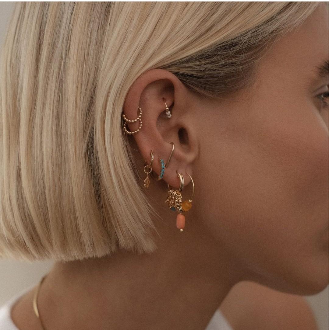 aesthetic, earrings, and beauty image