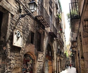 balconies, catalonia, and spain image