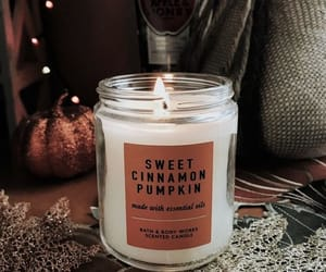 candle, pumpkin, and autumn image