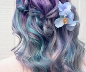 colorful, hairstyle, and haïr image