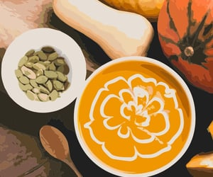 autumn, Halloween, and soup image