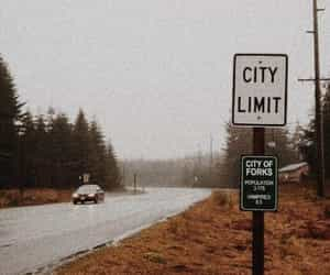 city, forks, and movie image