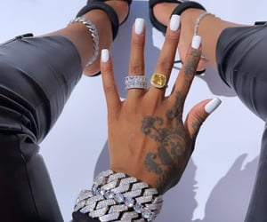 jewelry, luxury, and nails image