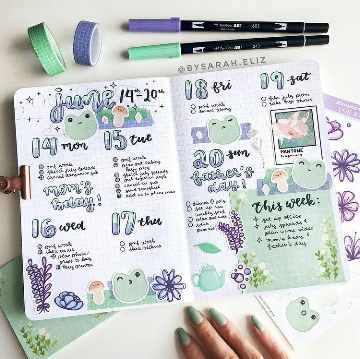 calendar, frogs, and green image