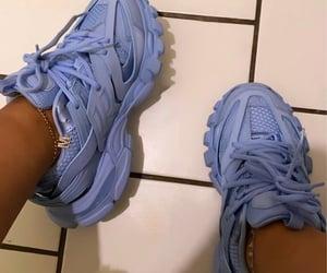 Balenciaga, blue, and sneakers image